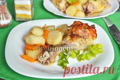 Куриная голень с сыром, кунжутом и грейпфрутом в духовке рецепт с фото, как приготовить на Webspoon.ru