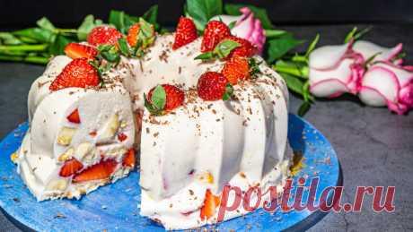 Самый вкусный летний торт с сочной клубникой всегда съедается моментально!   Сибирячка готовит   Яндекс Дзен