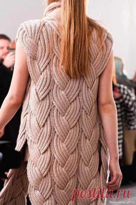Кардиган из кос спицами   Вязание для женщин спицами. Схемы вязания спицами