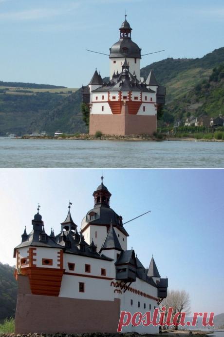 Таможенный замок Пфальцграфенштайн в Германии — Путешествия