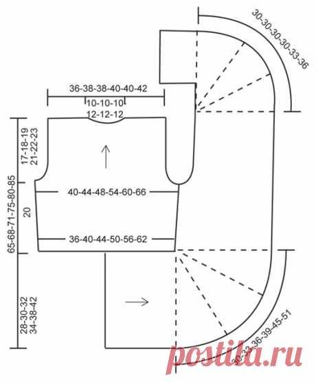 Схема вязания Жилет из буклированной пряжи Хайди DROPS 143-26 Heidi