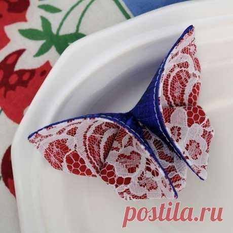 Бабочки оригами из ткани — Сделай сам, идеи для творчества - DIY Ideas