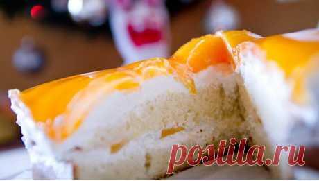 Персиковый торт. Автор: sama_ja