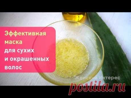 Эффективная  маска для сухих и окрашенных волос
