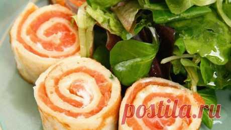Лаваш с семгой и творожным сыром — рецепт и особенности приготовления