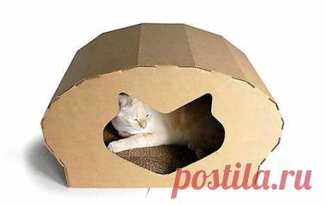 Кошкин дом из картона | Для дома