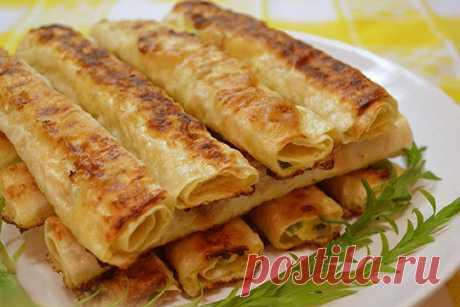 Хрустящие сырные рулетики из лаваша | Вкусные рецепты