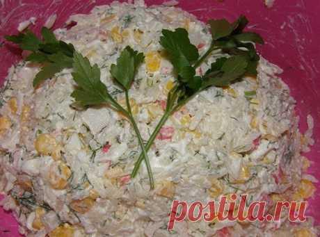 Салат из крабовых палочек рецепт – европейская кухня: салаты. «Еда»