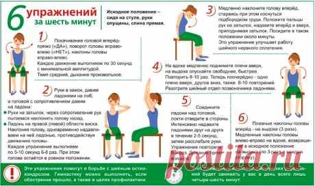 Упражнения для борьбы с шейным остеохондрозом