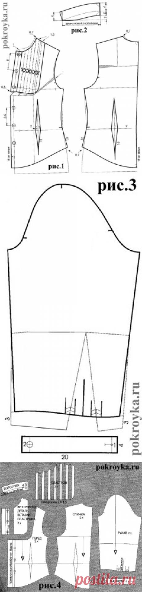 красивая блузка со вставкой