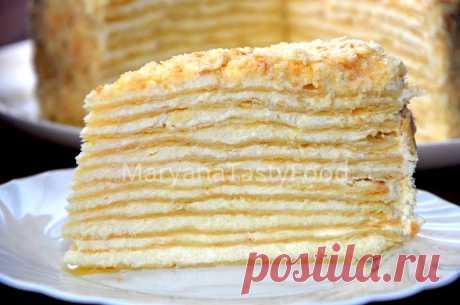 Мой Любимый Классический торт Наполеон рецепт с фотографиями