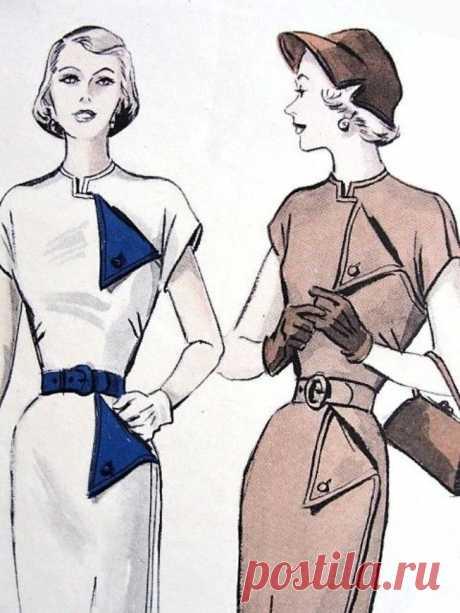 Платья с оригинальными клапанами