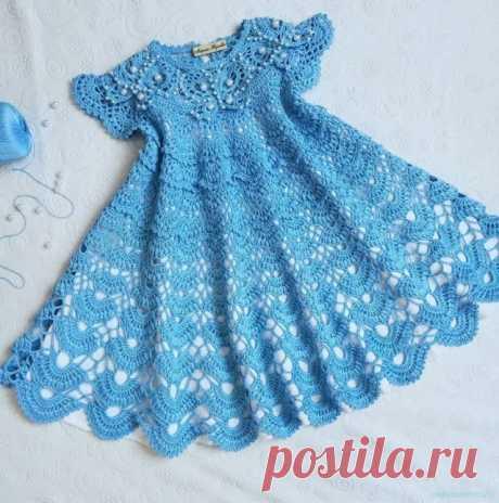 Платье крючком для девочки — Красивое вязание