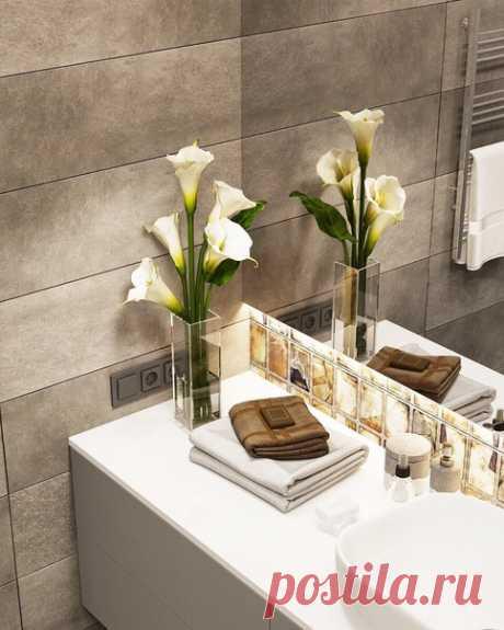 Дизайн душевой комнаты, 6,5 кв.м, г. Москва Современный стиль Автор проекта — Камаева Вера.\