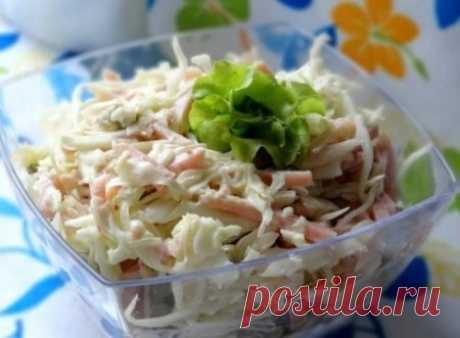 Салат из капусты с ветчиной | Краше Всех
