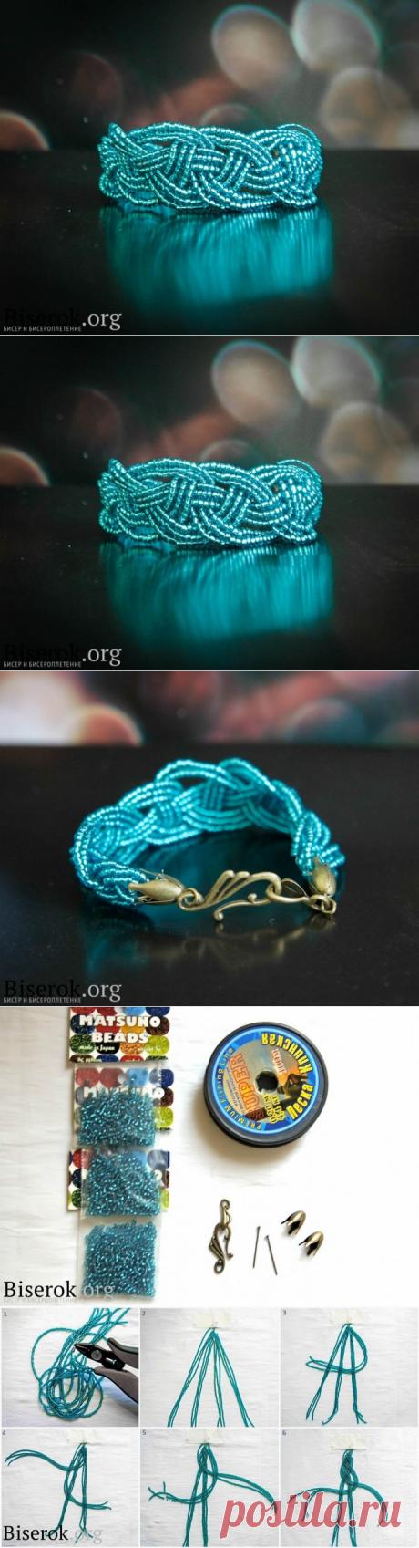 Браслет в технике кельтского плетения