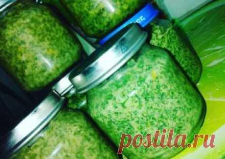 Укропный соус на зиму🥦#заготовки Автор рецепта Анастасия - Cookpad