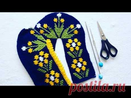 Tunus işi sarı çiçek bahçesi yapılışı 2.bölüm/Patik modelleri/Tunus işi patik modelleri/Tunus işi