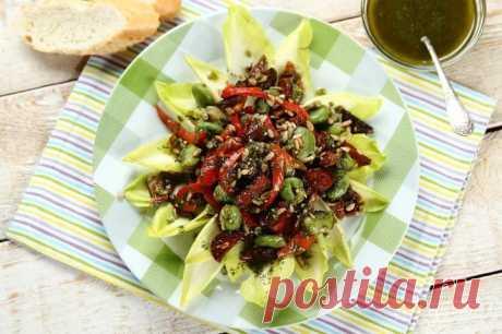 Рецепт салата из бобов с колбасой – пошаговый рецепт с фото.