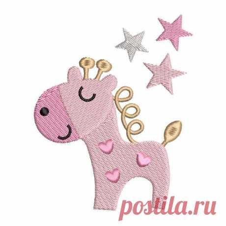 Diseño lindo del bordado de máquina de la jirafa | Bordado Rosieday | Bordado De Rosieday