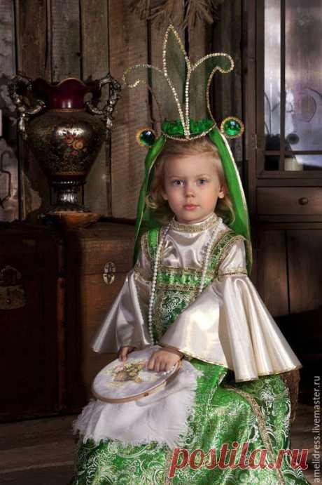 Купить Царевна -Лягушка - зеленый, орнамент, василиса прекрасная, царевна-лягушка, карнавальный костюм, сказка