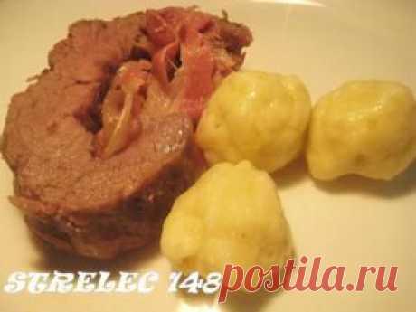Рулет из говядины Прощай диета с клёцками.. Рецепт c фото, мы подскажем, как приготовить!