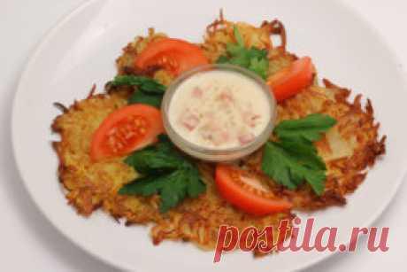 Драники со сметаной: пошаговый рецепт с фото, калорийность