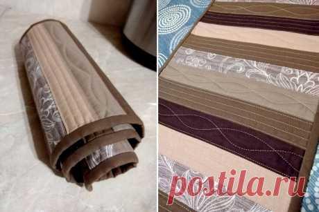 Что сшить из узких полосочек ткани? Простой, симпатичный, полезный в доме, квилт | Подушкины секреты | Яндекс Дзен