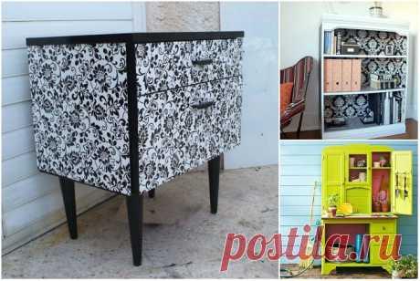 Как преобразить старые шкафы и стулья в стильные предметы интерьера / Я - суперпупер