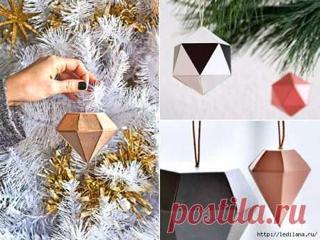 Приманите удачу, украсив елку серебряными и золотыми кристаллами