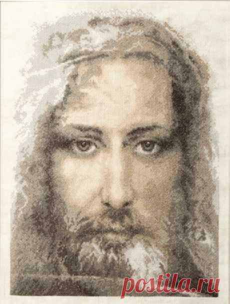 """Вышивка М-202 """"Туринская плащаница правдивый образ Иисуса Христа"""" - чм   Купить наборы для вышивания «Наборы для вышивания» в интернет-магазине «Мир Вышивки»"""