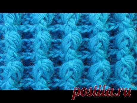 Супер узор для шапки из рельефных столбиков Crochet pattern  117