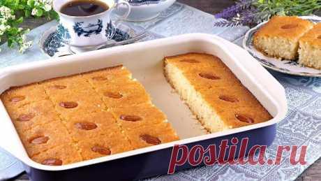 Сладкий пирог «Басбуса» - традиционный арабский десерт! Восточные сладости!
