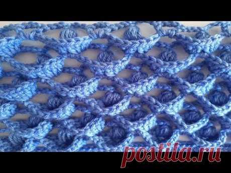 punto en relieve a crochet - tutorial tejido a ganchillo - todo en crochet