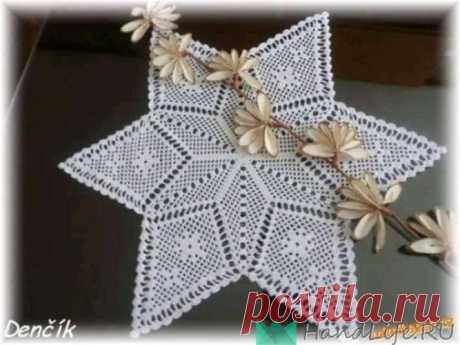 Новогодняя салфетка крючком / Вязание
