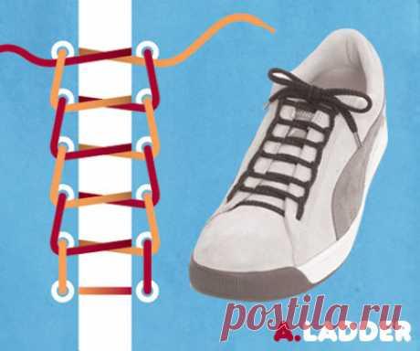 15 способов завязывать шнурки оригинально.