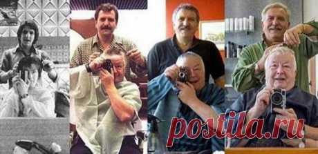 14 кадров, что были воссозданы спустя десятки лет – Нескучно   Клиент и его парикмахер – дружба сквозь года