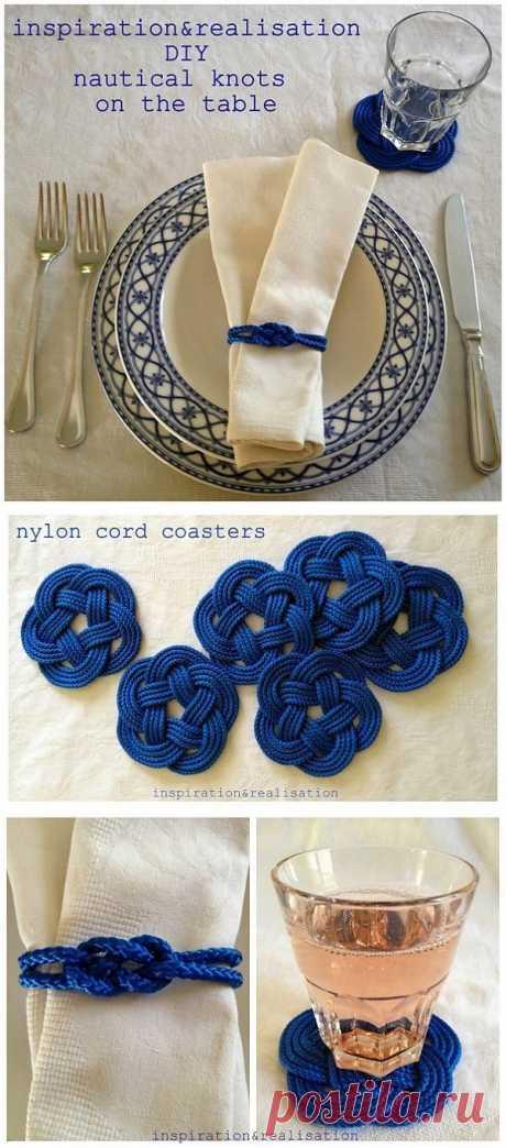 Идея для сервировки - плетем узелки.