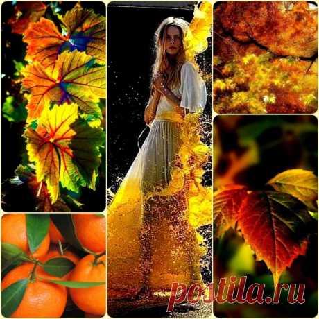 ~~~~~~~~~~~~~~~ Я потерялась среди брошенных картин, среди дорог, размытых поздними дождями…А ты рисуешь осень цветом апельсин, бросая яркость очень смелыми штрихами…   Ах, да! Ты не рисуешь….... пишешь…..... извини…..... Мучительны слова, что не влезают в строчку…Мне ночью снятся эти рыжие огни,пугающие зиму солнечной отсрочкой… Мазок....… ещё....… и закружился листопад, роняя капли непослушной акварели стихией возбуждённых сочным цветом пана скомканный рассвет изнеженной постели…