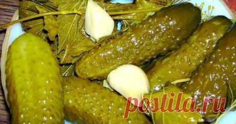 The crackling cucumbers — very unusual recipe of preparation