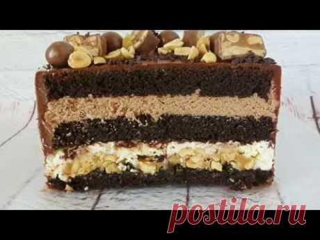 """Торт """"Сникерс"""" - нереально вкусный!!!"""