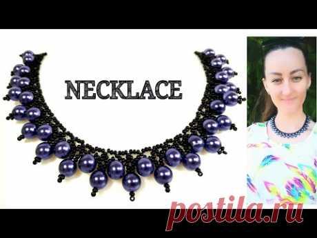 Колье из Бисера и Бусин Мастер Класс Beebeecraft / Necklace from Beads and Beads Master Class