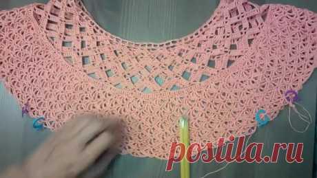 Туника Вязание крючком для начинающих Crochet tunic