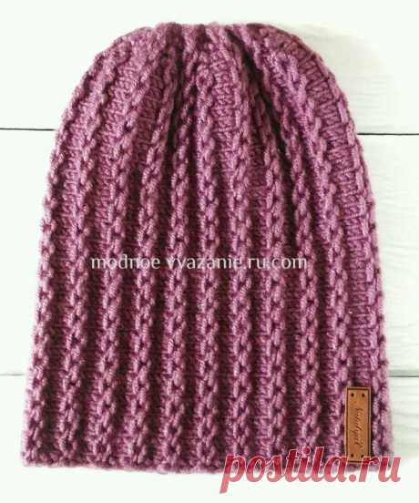 How to connect a fashionable cap a bin by spokes - Modnoe Vyazanie ru.com