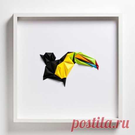 Pájaros geométricos y otros diseños de papel doblado brillante de Tayfun Tinmaz - Bedroom237