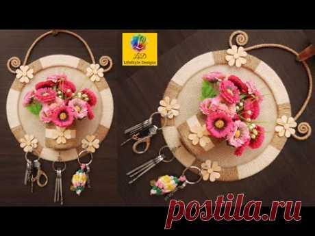 Wall Hanging KeyChain Holder Showpiece   Flower Vase Key Stand   KeyChain Holder Handmade Home Decor
