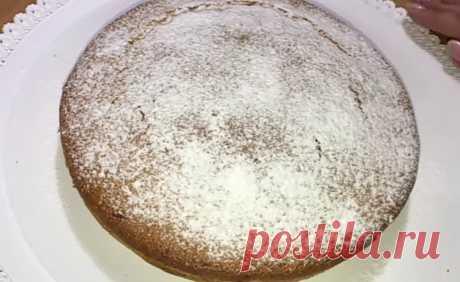 Воздушный пирог из ничего. Без яиц, молока и сливочного масла | Просто и вкусно | Яндекс Дзен