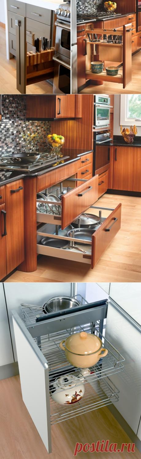 Выдвижные полки и ящики для кухни — Наши дома