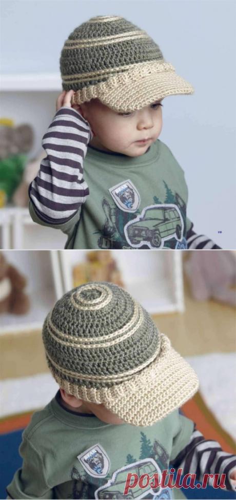 Вязаная кепка крючком для мальчика | Что на голову?