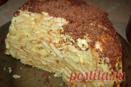 Торт из печенья банановый   Sladkij-domik.ru   Яндекс Дзен